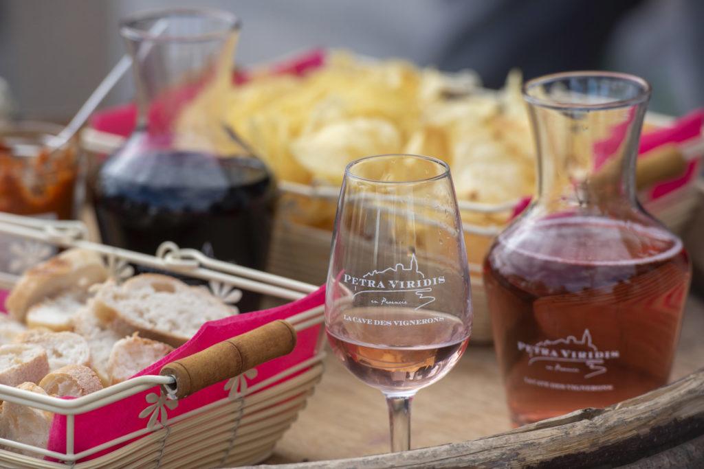 dégustation vin rosé petra viridis