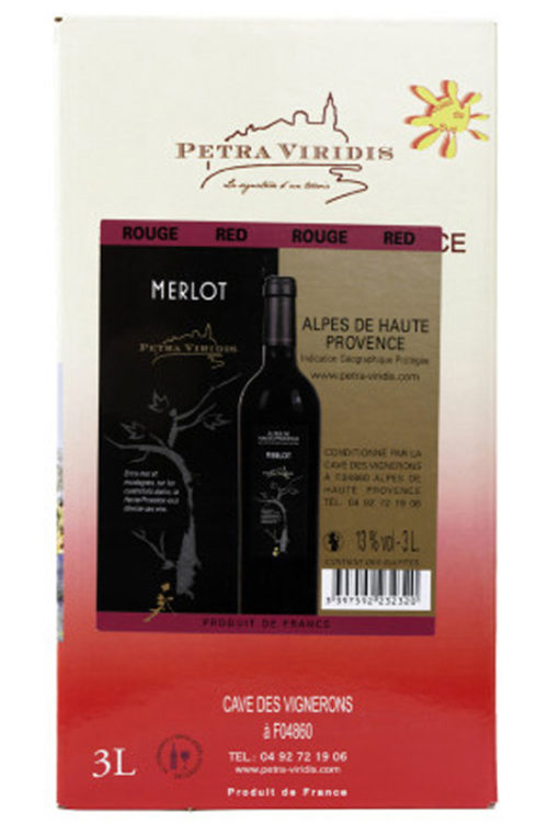 bag in box vin rouge merlot petra viridis