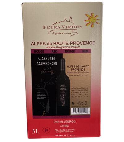 bag in box vin rouge cabernet sauvignon petra viridis
