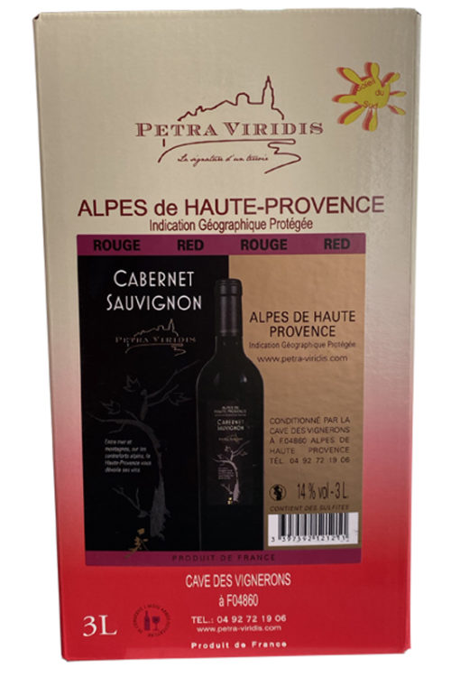 bag in box vin rouge cabernet sauvignon petra viridis