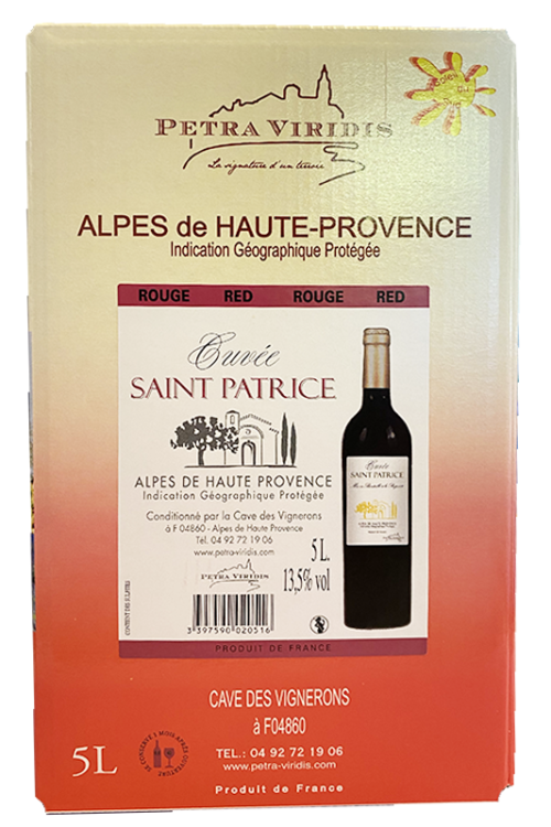 bag in box vin rouge saint patrice petra viridis