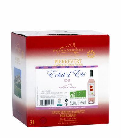 Bag in box Eclat d'été vin rosé petra viridis