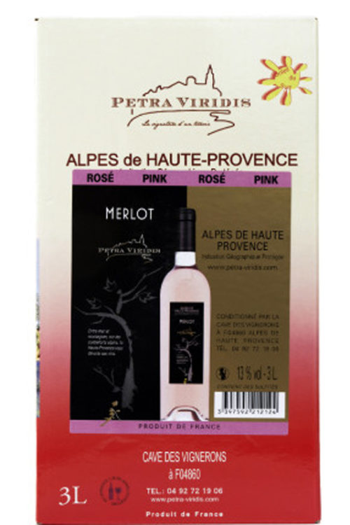 Bag in box rosé Merlot petra viridis