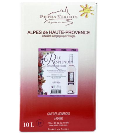 Bag in box le Resplendin rosé fruité petra viridis