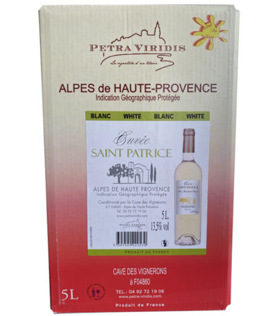 bag in box vin blanc saint patrice petra viridis
