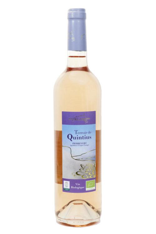 Vin rosé Quintius bio petra viridis