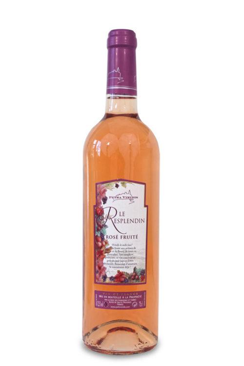 Le Resplendin vin rosé fruité Petra Viridis