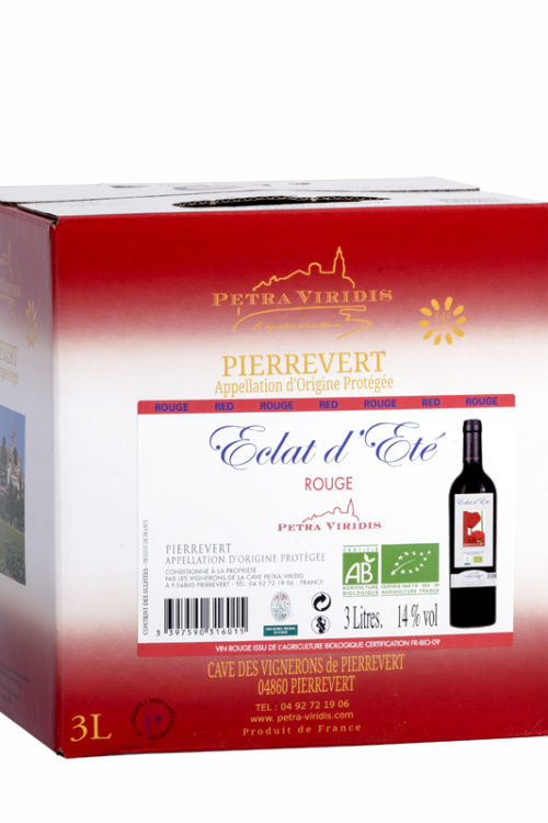 Bag in box Eclat d'été vin rouge petra viridis