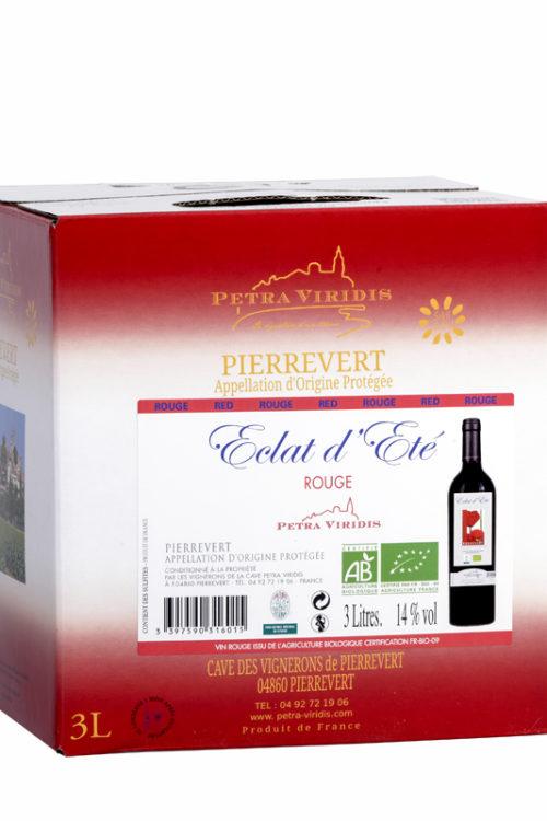 Bag in box Eclat d'été vin rouge petra viridis